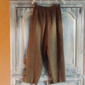 Dana Buchman Khaki Silk Pants